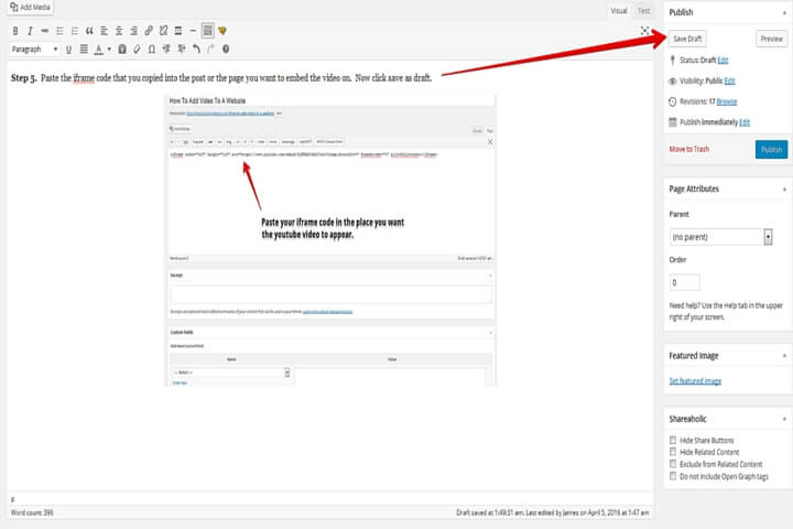 adding youtube videos to your website