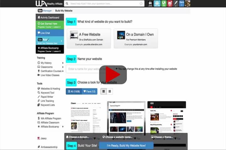 Create A Website In 30 Seconds Video