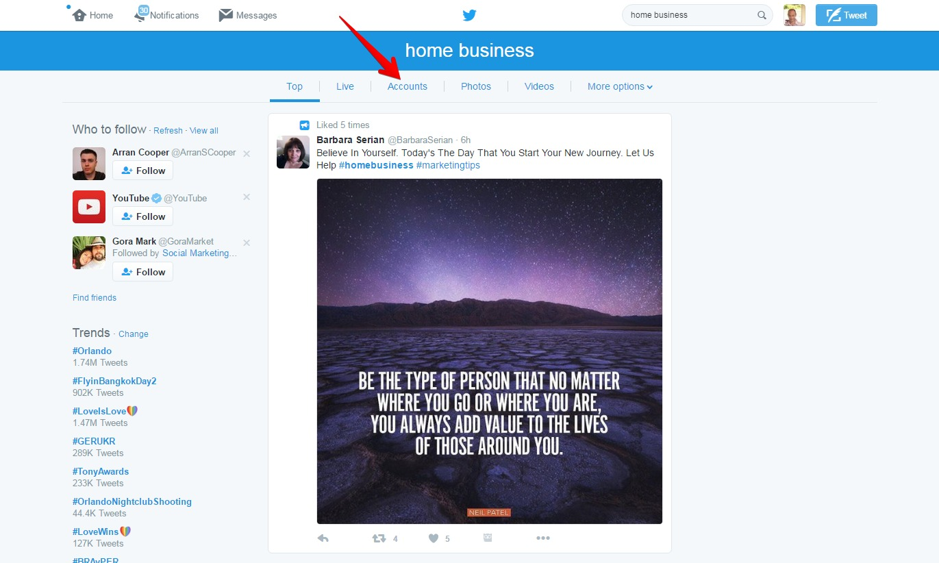 Home Business Twitter Search