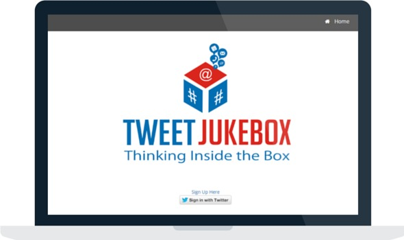 Logging in to Tweet Jukebox