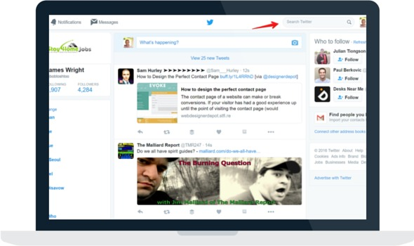 Search Bar for Twitter