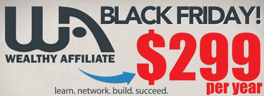 Black Friday at Wealthy Affiliate Deal