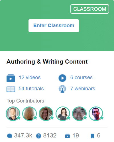 Classroom 3 - Authoring and Writing Content