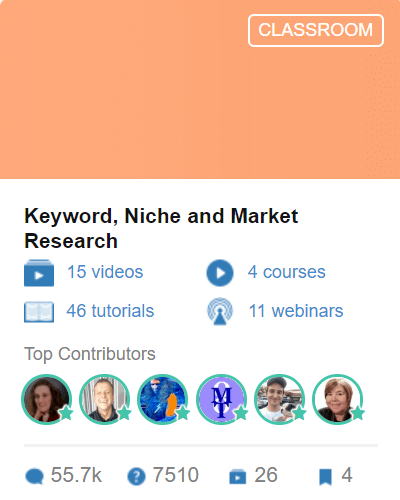 Classroom 4 - Keyword-Niche and Market Research