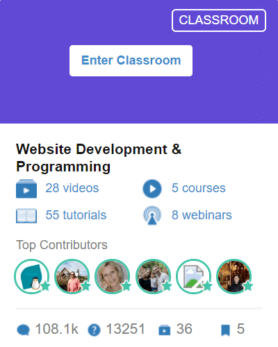 Classroom 5 - Website Development and Programming