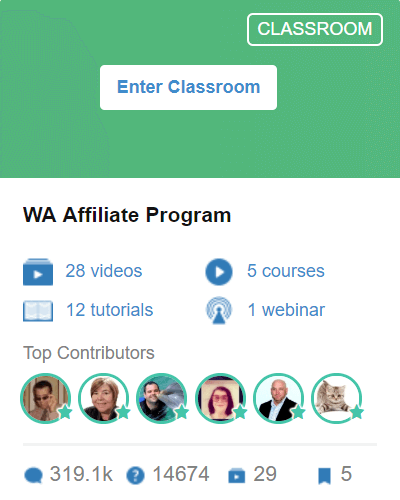 Classroom 6 - Wealthy Affiliate Program