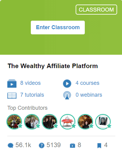 Classroom 9 - The Wealthy Affiliate Platform