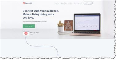 Convertkit Email Marketing Autoresponder Home Page