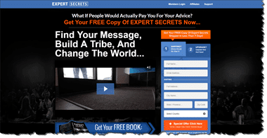 Expert Secrets Book Home Page