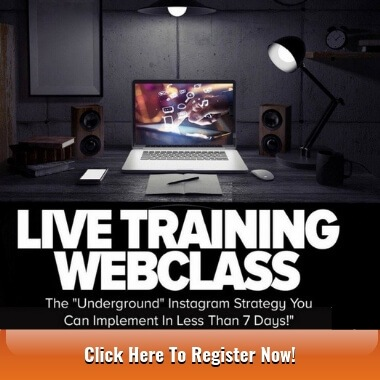 Live Training Webclass for Instagrammers