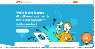 WPX Web Hosting Home Page