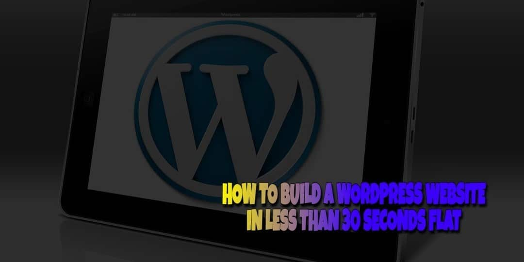 Build a Website in Less Than 30 Seconds