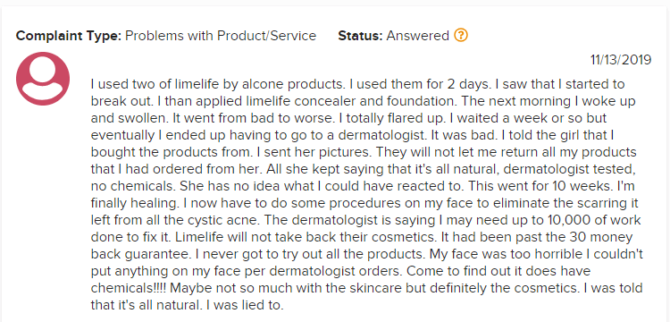 LimeLife MLM Review - LimeLife Product Complaints 1