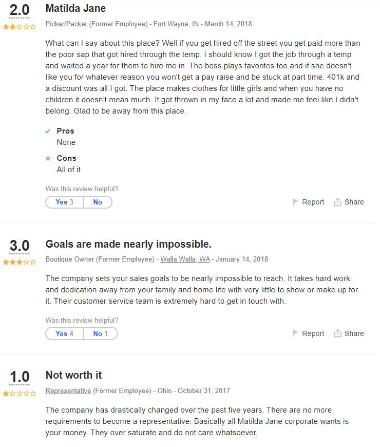 Matilda Jane MLM Review - Complaints