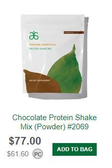 Arbonne MLM Review - Product Price Comparison from Arbonne Website - Chocolate Protein Shake Powder