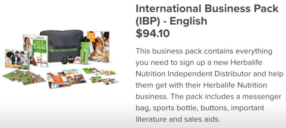 Herbalife MLM Review - International Business Pack Pricing