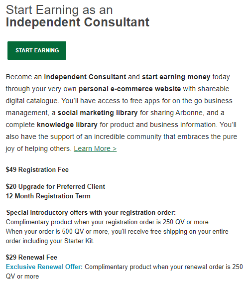 How Much Does it Cost to Join Arbonne MLM as a Consultant
