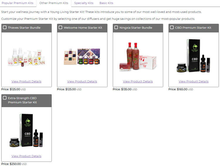 Young Living MLM Review - Optional Extras Starter Kit Pricing