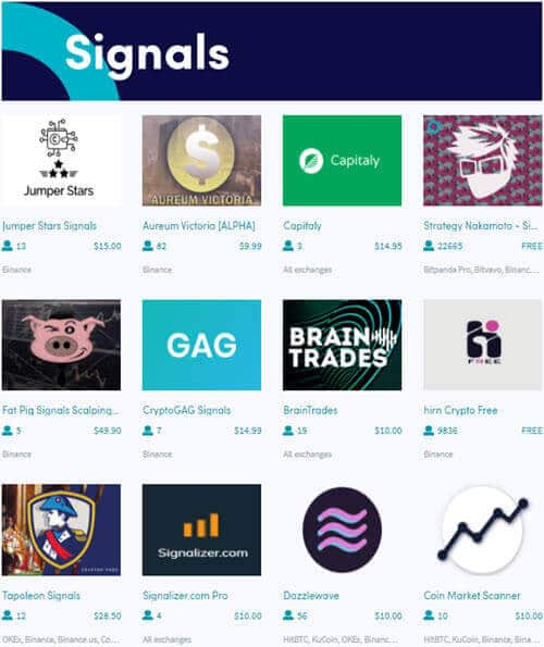 Signals Can Be Found in the CryptoHopper Marketplace