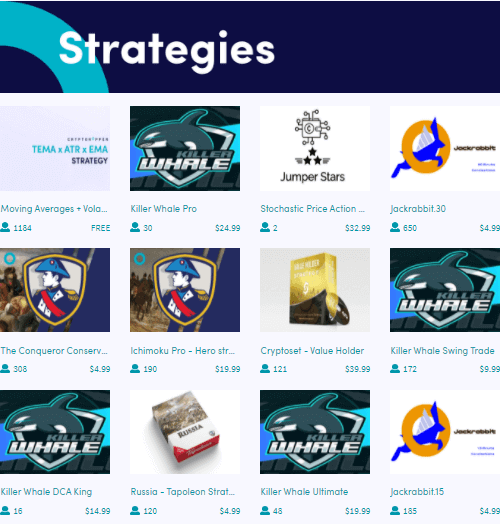 Strategies can be found in the cryptohopper marketplace